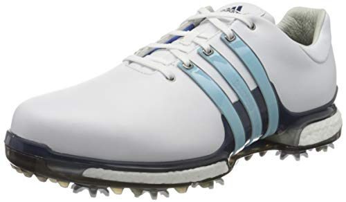 adidas Men's Tour 360 Boost 2.0 Golf Shoes, White (White Q44984), 7.5 UK