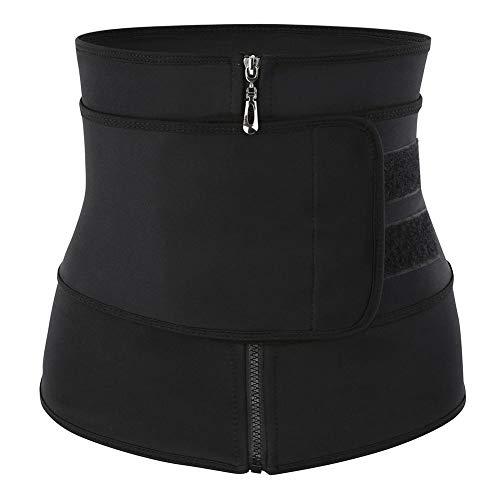 Sueng 1 x Taillen-Trainer Korsett Bauch-Training Bauchgürtel Shaper Gewichtsverlust geeignet für Damen Taillentraining, Schwarz-XXXL