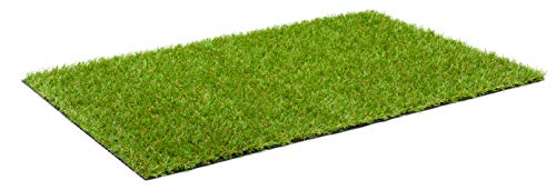 Kunstrasen Rasenteppich Blaze für Garten - Florhöhe 20 mm - Gewicht ca. 1898 g/m² - UV-Garantie 8 Jahre (DIN 53387) - 4,00 m x 3,50 m | Rollrasen | Kunststoffrasen