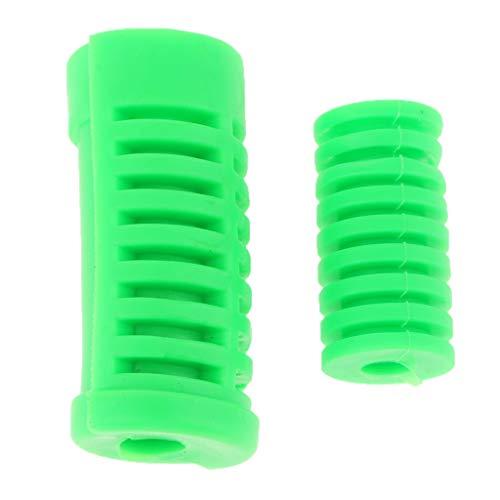 Cubierta de Goma de Pedal Footpeg Reparación Elegante para Clavija Facíl Instalar - Verde