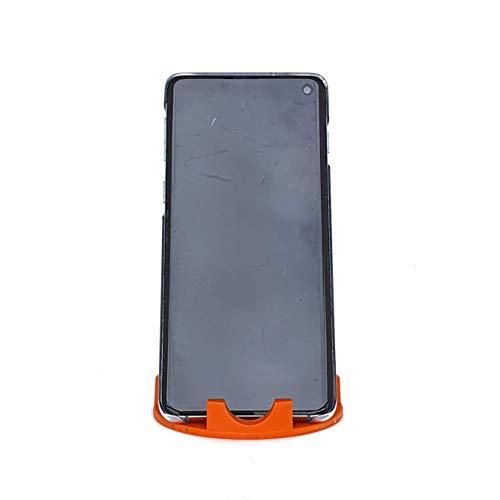 Suporte de Mesa ou Home Office para Celular ou Tablet serve em todas as marcas - Modelo Triangular (Laranja)