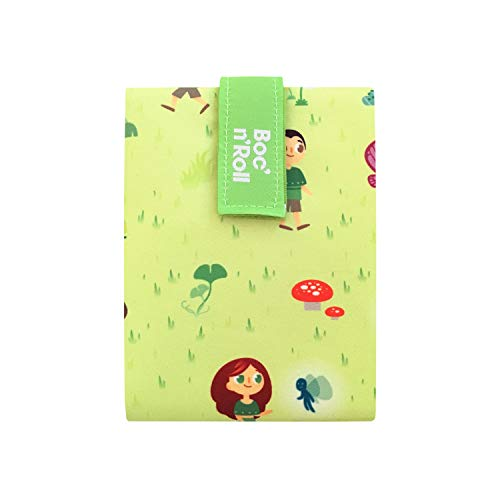 Convertibile in tovaglia BPA Free Borsa Porta merenda Roll Eat BOC n Roll Teens Girls Bicycle- Porta panini e Sandwich Riutilizzabile ed Ecologico