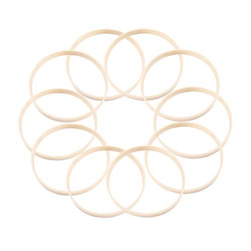 VOSAREA Drahtringe Set Holz Ringe Handwerk für Traumfänger DIY Handwerk 20cm, 10 Stück
