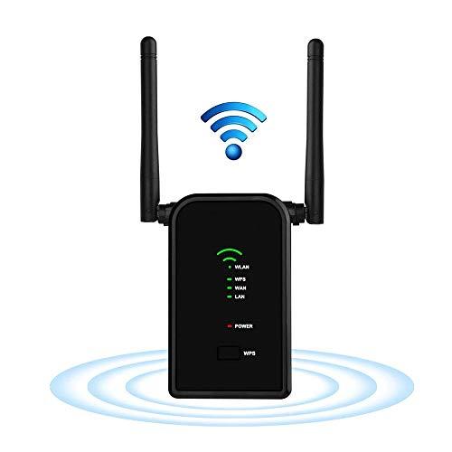 Wifi Extender Largo Ra Nge Actualizado 300mbps Wi-fi Repetidor Mini Router Fácil Configuración Punto De Acceso Inalámbrico 2.4ghz Adaptador Amplificador De Señal De Punto De Acceso De Red Con Dos Ante