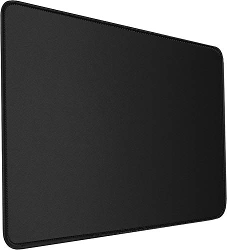 Mouse Pad, Large Gaming Mouse Pad with Double Stitched Edges, 14.9 x 11.7 inches Premium-Textured & Waterproof Mousepad, Nonslip Natural Rubber Base Mouse pad for Laptop,Computer, Office, Home, Black