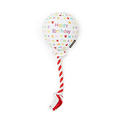 Pet London Birthday Balloon Dog Toy - Celebrate Your Dog's Happy Birthday - Plush colourful Rainbow Confetti Pattern Dog Party Gift-Perfect Pup Special Day Present-UK Designer Brand-BDAY or Adoption