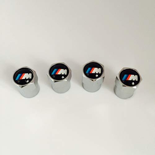 BMW M SPORT-KAPPEN FÜR REIFENVENTIL, M3, M5, M6 M TEC X5 X3 BADGE ALUFELGEN-LOGO-BADGE/EMBLEM