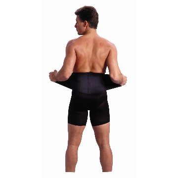 Saunders S'port All Back Support with White Compression Shorts: Men's, Small (Waist: 28