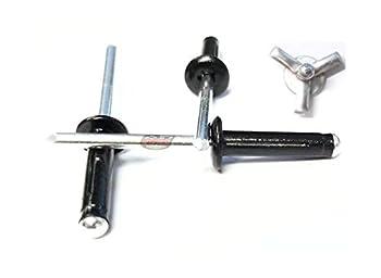 Racer s Speed Shop Black 3/16  Small Head Tri-Fold Exploding Aluminum Mandrel Pop Rivets 100 Pack