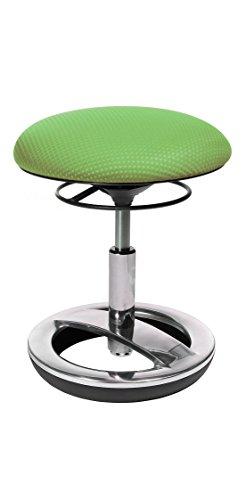 Topstar Sitness Bobby, Sitzhocker für Kinder, niedrige Sitzhöhe: 38 - 46 cm, Standfußring Alu poliert, Stoffbezug, grün