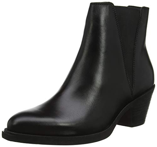 Geox D LOVAI A, Botas Camperas Mujer, Negro, 38