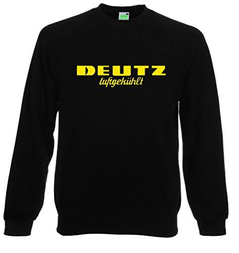 Bimaxx® Sweatshirt | Deutz Luftgekühlt | schwarz, Druck gelb | Größe 3XL