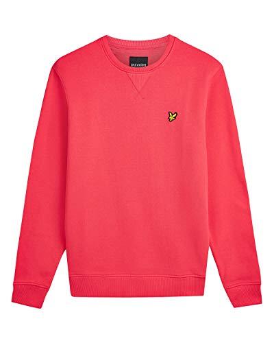 Lyle and Scott Herren Sweatshirt mit Rundhalsausschnitt, Baumwolle Gr. XS, Geranium Pink