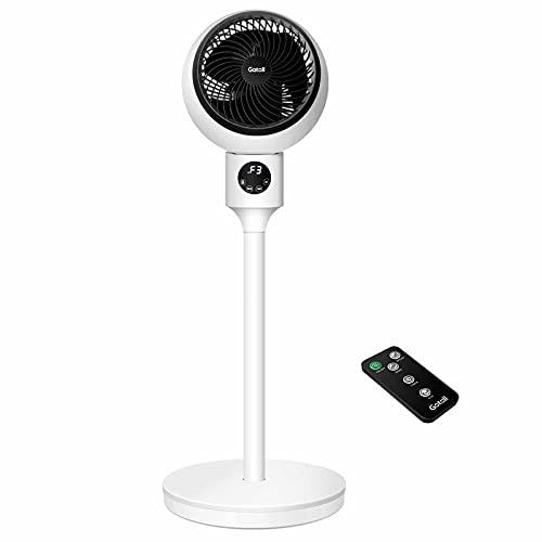 Gotoll Ventilatore a Piantana,Ventilatore con Telecomando da 30cm con Telecomando e Display a LED,3 velocità,3 modalità operative,90°Oscillazione e Timer di 15 Ore,50W
