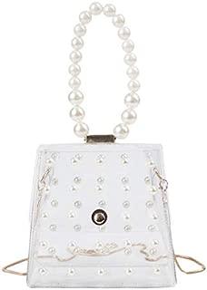TOOGOO Fashion Girl Pearl Crossbody Bags Women Cute Waterproof Messenger Crossbody Bag Brown