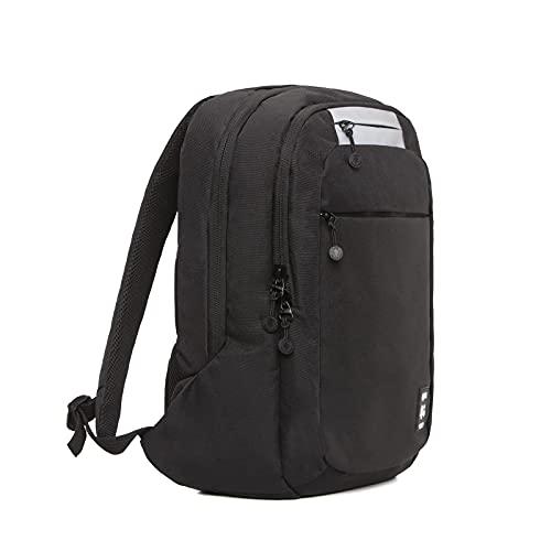 Lefrik - Mochila101 Reflective Casual y Práctica - Tejido 100% Reciclado - Eco Friendly - Compartimento Especial para portátiles y Tablet - 12 L - Color Black