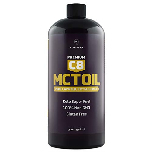 Premium C8 MCT Oil from Non-GMO Coconuts. Great with Coffee, Tea, Smoothies & Salad Dressings. Vegan Certified. Dairy & Gluten Free. 32 FL oz.