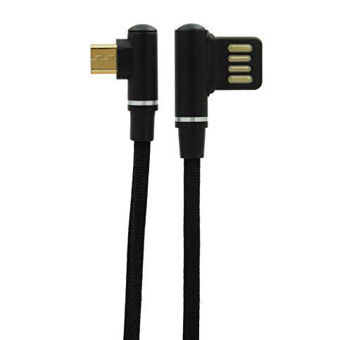 KABELIX Unisex– Erwachsene A Micro-USB Ladekabel, Schwarz, 50 cm