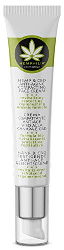 Hemphilia® Hanf & CBD Anti Aging Gesichtscreme mit Hyaluronsäure, Arganöl, Sheabutter und Aloe Vera - revitalisierend, schützend, regenerierend - Anti-Falten Anti Aging Eigenschaften, Vegan 45ml