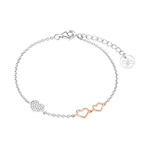 s.Oliver Armband für Damen, Silber 925, Zirkonia