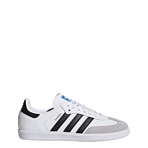 adidas Samba OG J, Zapatillas Unisex Niños, Blanco (Footwear White/Core Black/Clear Granite 0), 38 2/3 EU