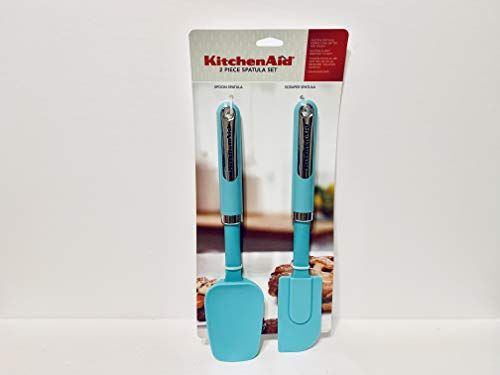 KitchenAid Classic Spatula Set, Set of 2, Aqua Sky
