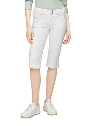 Q/S designed by - s.Oliver Damen Slim Fit: Stretch Capri-Jeans white 40