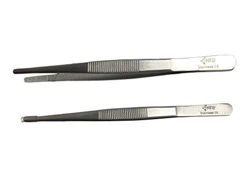 Spire Pinzas industriales y anatómicas – Pico recto y serrado – Longitud: 15 cm – Acero inoxidable