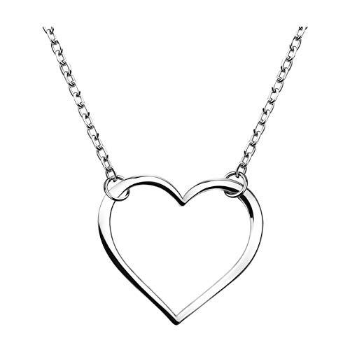 SOFIA MILANI Damen Halskette 925 Silber - Herz Anhänger - 50183