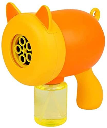 BOIPEEI Out Toys Bubble Gun Maschine für Kinder Bunte Bubble Porous Cartoon Katze Kinder Spielzeug Bubble Gun