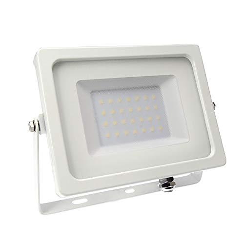 mlight LED Fluter Strahler Flutlicht Weiß IP65 50W 4200lm 5000K Tageslichtweiß