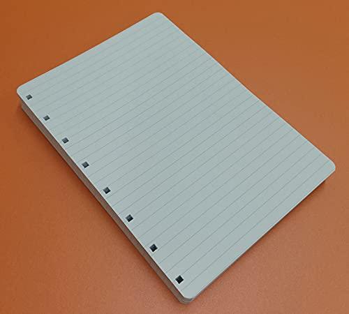 Refill Ricarica 100 Fogli (200 Pagine) Rimovibili Riposizionalibi - A5 15x21cm. Righe 7 mm. - DIN A5