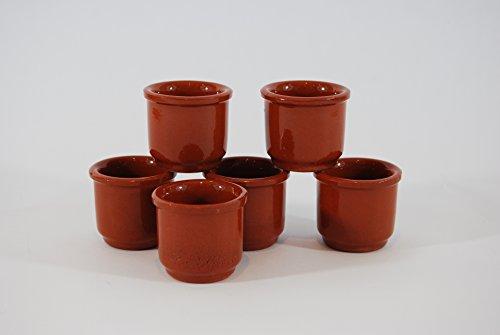 Set de 6 vasos barro de chupito 50 cc