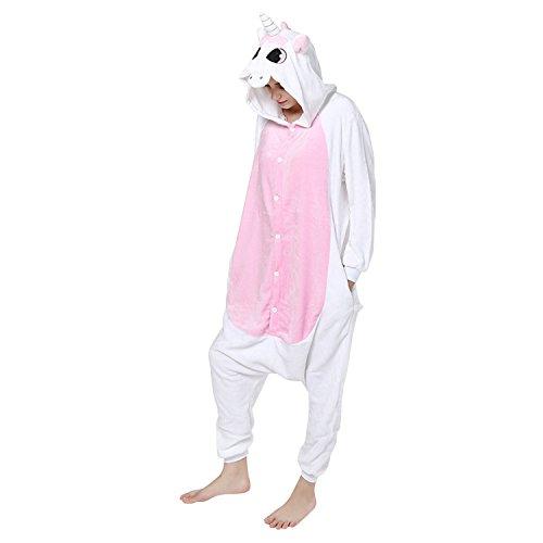 Bold Manner Unisex Adult Pyjama Kuh Pyjama Schlafanzug Erwachsene Jumpsuit Unisex Einteiler Tier Winter Warm Flanell