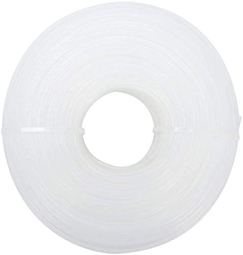 Hilo cortacésped 1,6 mm x 100 m redondo desbrozadora, hilo de nailon redondo, color blanco