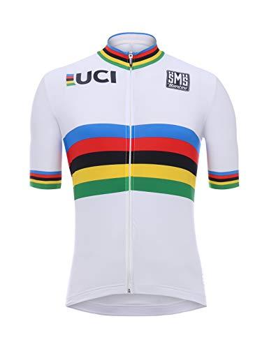 Santini UCI Campione del Mondo Maglia Manica Corta, Uomo, Multicolore, XL