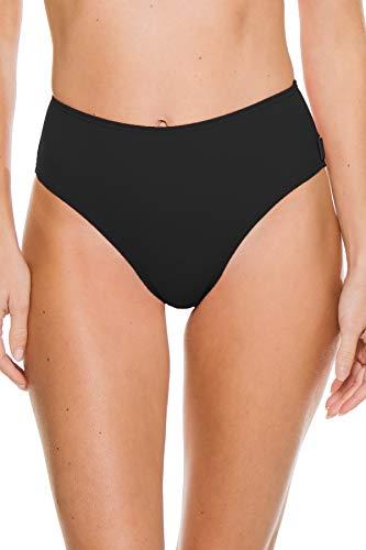 Shan Women's Osaka Mid Rise Bikini Bottom Caviar XS