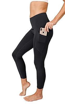 90 Degree By Reflex Womens Power Flex Yoga Pants - Ash Charcoal Space Dye - Large