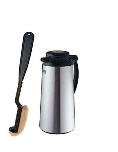 """LONG HANDLE 16"""" COFFEE AIR POT/DECANTER URN CLEANING BRUSH FOR STAINLESS LINED THERMAL CARAFES COMMERCIAL USE UNBREAKABLE REPLACEABLE CLEANING PAD"""