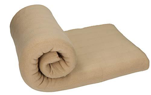 Betz Fleecedecke Kuscheldecke Wohndecke Farbe Sand beige Größe 130x170 cm Qualität: 220 g/m²