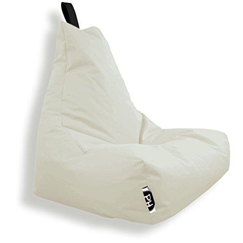 Patchhome Lounge Sessel XXL Gamer Sessel Sitzsack Sessel Sitzkissen In & Outdoor geeignet fertig befüllt | XXL - Creme - in 2 Größen und 25 Farben
