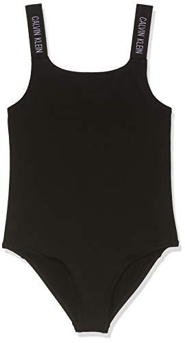 Calvin Klein Kostium kąpielowy dla dziewcząt, czarny (black 001), jeden rozmiar