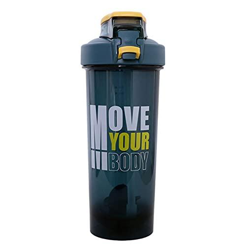ProteíNa Shaker de,BPA libre Agitador de a Prueba de Fugas Para Bebidas Proteicas Botella 800Ml