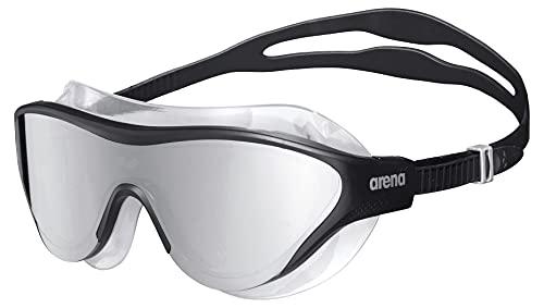 ARENA The One Mask Mirror, Occhialini Unisex Adulto, Nero, Taglia Unica