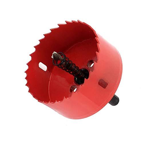 ZXHAO 75mm/3 inch Hole Saw, 1 1/4 inch Cutting Depth HSS Bi-Metal Hole Cutter for Wood Cornhole Boards Plastic Drywall & Metal Sheet