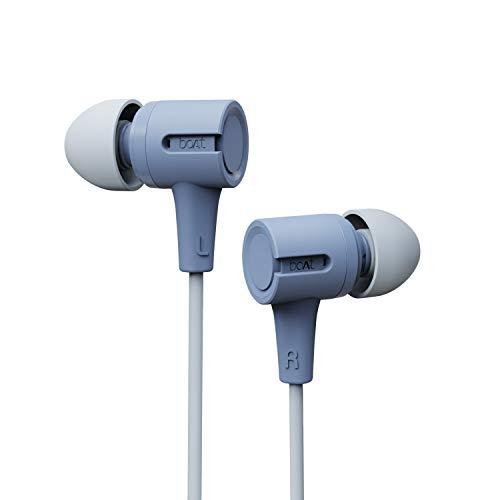 boAt Bassheads 102 in Ear Wired Earphones with Mic (Mint Purple)