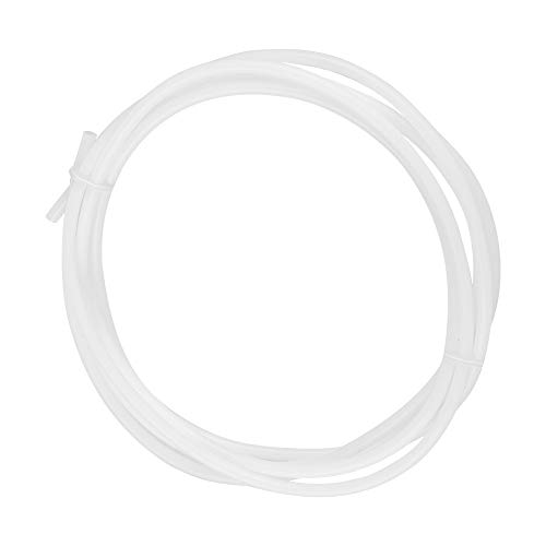 Yivibe Bowden Tube, 4Mm Outer Diameter 2MM Inner Diameter 1.5/2 M Long PTFE Pipe, White Ptfe Material General Purpose for 3D printers Professional Use Office(1.5M)