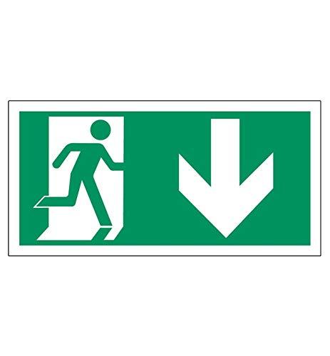 Sticker nooduitgang | folie | instructiesticker | veiligheidssticker | waarschuwingssticker | sticker | beschildering | zelfklevend | zonder luchtbellen | displayfabrikant