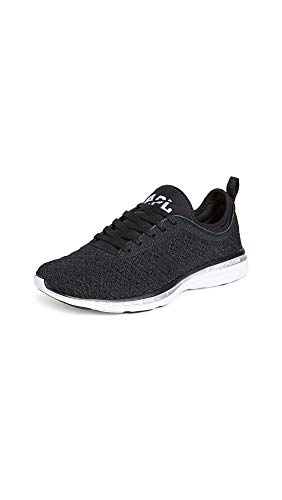 APL: Athletic Propulsion Labs Women's Techloom Phantom Sneakers, Black/Metallic Silver, 9.5 B(M) US