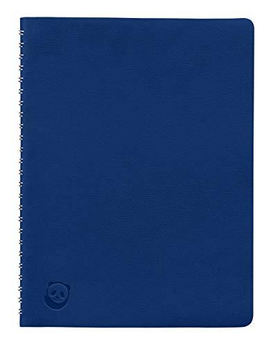 Cuaderno A5 de SmartPanda – Azul, Tapa Blanda, con Espiral Metálica – Pautado, Ejecutivo, 160 páginas, 100 gsm